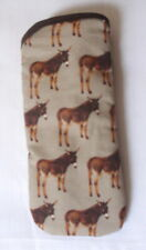 DONKEYS - COTTON GLASSES CASE -   ideal small gift