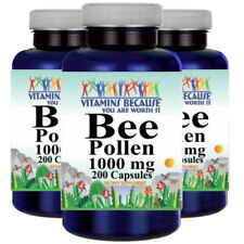 Bee Pollen 1000mg 3X200 Caps by Vitamins Because