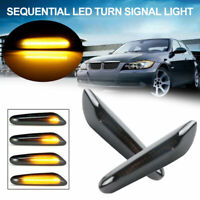 2x Dynamic LED Side Marker Light Turn Signal Indicator For BMW E90/91/92/93 E60