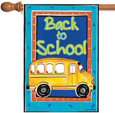 NEW Toland - School Bussin' - Colorful Back To Yellow Bus House Flag