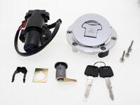 Ignition Switch Seat Lock Fuel Gas Cap Lock Key Set For Honda CBR1000RR 2008-14