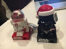 Galerie Star Wars Candy Dispenser w/ Sound Darth Vader Santa & R2D2 Figure Set