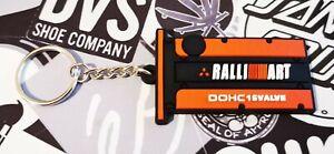 Keyring Keychain Keyfob Ralliart Engine MITSUBISHI EVO Lancer 1 2 3 4 5 6 7 8