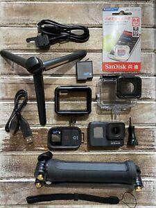 GoPro Hero 7 CHDHX-701 Hero7 + Remote+64GB Card+3-Way Arm+Tripod+SuperSuit (96)