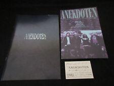 Anekdoten 1997 Japan Tour Book w Ticket Flyer PROG Concert Program King Crimson