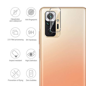 Xiaomi Redmi Note 10 Pro Kamera Schutz Folie Panzerfolie Hart-Glas Full Cover 9H