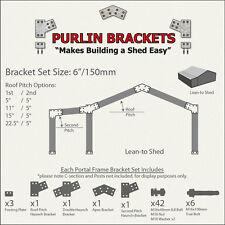 Lean-to Shed 6inch C Section Purlin Bracket Set-Garage-Farm-Steel Plate
