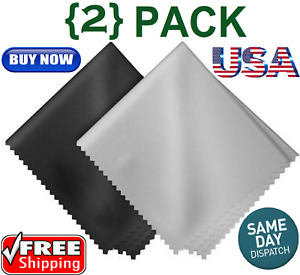 2-PACK 17Cm X12Cm Microfiber Cleaning Cloth For Camera Lens Glasses Phone Screen