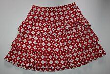 NUEVO Hanna ANDERSSON Rojo Blanco De Flores Falda con gradas Talla 120cm or 6 7