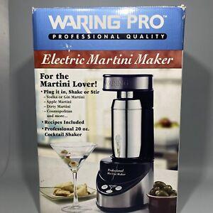 Waring Pro Professional Electric Martini Maker, Black & Chrome WM007 No Book