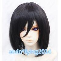 NEW Attack on Titan Mikasa Ackerman Short Black Cosplay Wig + Free wig cap
