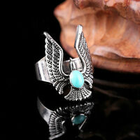 Men's Stainless Steel Eagle Design Cool Gothic Punk Biker Finger Rings Mexican