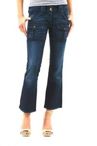 Jeans Donna Pantaloni BRAY STEVE ALAN B640 Blu Tg 26 27 28 veste piccolo