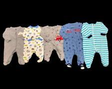 Baby Boy Newborn 0-3 Months Carter's Cotton Summer Sleeper Pajama Clothes Lot