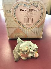 """2000 Enesco Calico Kittens """"Soulmates"""" #682993.With Box"""