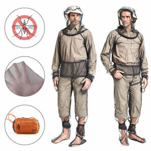 Outdoor Bug Wear Anti Mosquito Suit Jacket Mitts Pants Socks Net Yarn Mesh Cloth