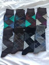 FIRST QUALITY PATTERN FASHION SOCKS COTTON MENS DRESS SOCKS  6 pairs random