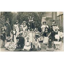 COSTUME KIDS school boys girls RPPC PHOTO RP c1918