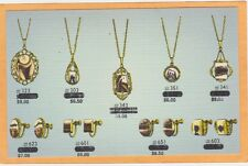 Advertising Postcard - Necklaces and Earrings Hustead's Wall Drug Store SD
