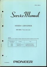 Original Factory Pioneer SA-800/FVW KUW KCW Stereo Amplifier Service Manual