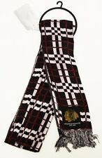 100% Official Licensed NHL 2012 Chicago Blackhawks Team Logo Checkered Scarf
