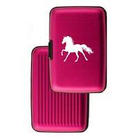 Aluminum Security Wallet Credit Card Case Purse RFID Blocking Horse