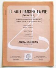 Partition sheet music ANITA SKORGAN : Il Faut Danser la Vie * 70's Eurovision