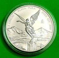 2020 2 oz Silver Libertad BU !! Coin in Capsule ! RARE Pop of 5,500 ONLY !!