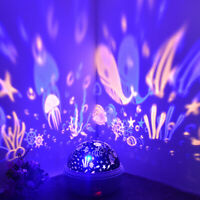 USB LED Rotating Projector Starry Night Lamp Star Sky Projection Night Light