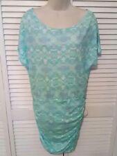 VICTORIA'S SECRET Women's Ruched Beach Swim Cover Up Dress Size M Green Summer