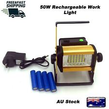 50W Portable Outdoor Rechargeable Work Spot FLOOD Spot Lights 36LED Camping Lamp
