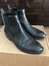 Michael Kors Black Chelsea Leather Boots/booties Size 37/6.5