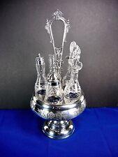Victorian Silverplate Cruet/ Quadruple Plate, Rockford Silverplate Co, #356