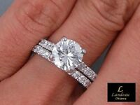 2.8 ct  Round Cut Diamond Bridal Wedding Set