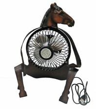 HORSE LOVERS METAL DESK FAN CONNECTS TO USB PORT ENGLISH OR WESTERN SADDLE HORSE