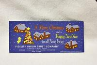 Vintage 1950s Fidelity Union Trust Company Blotter Card Christmas Greetings