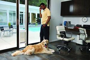 Sliding Glass Pet Door Aluminum Patio Flap Panel Dog Cat Freedom Large White