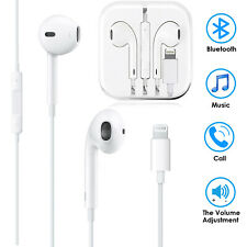 Wired Bluetooth Headset Headphone Earbuds For Apple iPhone 5 to12