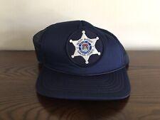 Vintage Oakland County Deputy Sheriff State Of Michigan Blue Snapback Hat / Cap