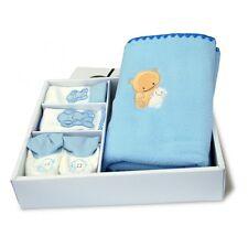 Coffret Cadeau naissance bébé plaid polaire bonnet bavoir chaussons Baby-Bow (B)