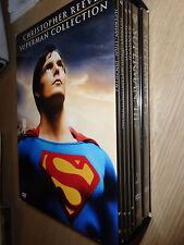 BOX 9 DVD CHRISTOPHER REEVE SUPERMAN COLLECTION 1 2 3 4 EDIZIONE ITALIANA WARNER
