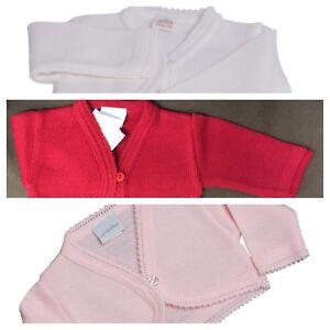 Baby  girls knitted cardigan Bridesmaid bolero jacket shrug White Pink Red