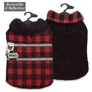 Dog Thermal Plaid Blanket Coat Jacket Reversible Winter Zack & Zoey Pet Coats