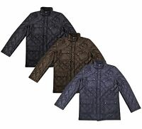 New Men's Quilted Jacket Diamond Style Jacket Top Coat S-XL