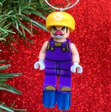 Nintendo Super Mario Bros Wario Minifigure Custom Lego Christmas Tree Ornament