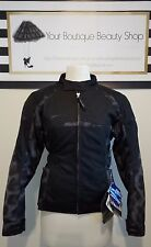 TEKNIC BLACK WOMEN JACKET RACE BIKE MOTORBIKE MOTORCYCLE SECURE SAFETY SEQUOIA