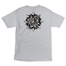 Santa Cruz Mace Dot Skateboard T Shirt Ash Xl