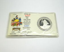 DISNEY Snow White 50th Anniversary SLEEPY RM .999 Fine 1/2 oz Silver Medal Coin