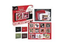 "New d:Book All-in-One 8x8"" Digital Scrapbook Album Kit Red"