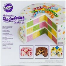New listing Wilton Checkerboard Cake Pan Kit - Nip